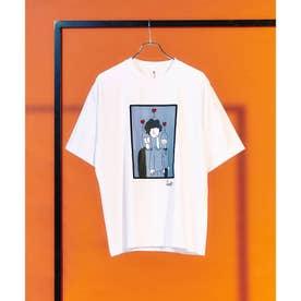 Eiji Fukui×コラボポートレートTシャツ (ホワイト)