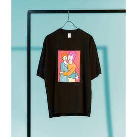 Eiji Fukui×コラボポートレートTシャツ (ブラック)