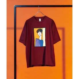 Eiji Fukui×コラボポートレートTシャツ (ボルドー)