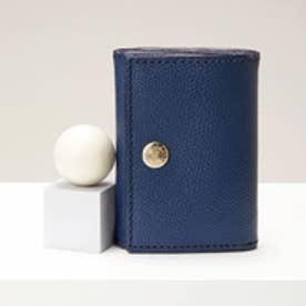 角シボ型押し・三つ折りミニ財布 (コン)
