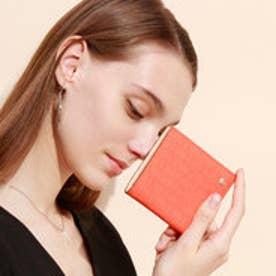 RITMO[リトモ]メッシュ柄型押し・二つ折りミニ財布 (コーラルオレンジ)