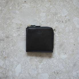 ソフトスムースレザー・Lファスナースクエアウォレット Mellow (ブラック)