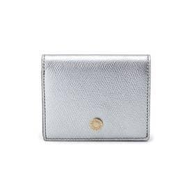 角シボ レザー 二つ折り 財布 IST イスト (シルバー)