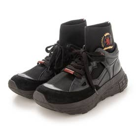 HC CREST EMBROIDERY CHUNKY SNEAKER (ブラック)