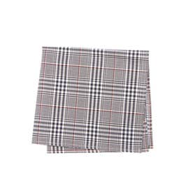 COTTON CHECK POCKET SQUARE (ネイビー)