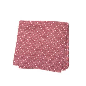 COTTON SILK DOUBLE POCKET SQUARE (レッド)