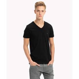 ベーシックVネックTシャツ (ブラック)
