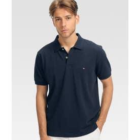 アンダーカラーロゴベーシックポロシャツ (ネイビー)