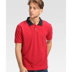アンダーカラーロゴベーシックポロシャツ (レッド)