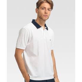アンダーカラーロゴベーシックポロシャツ (ホワイト)