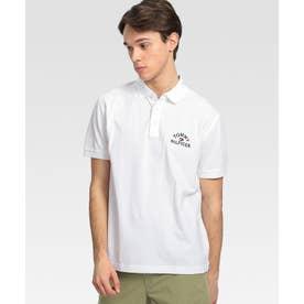 ロゴ コットンピケ ポロシャツ (ホワイト)