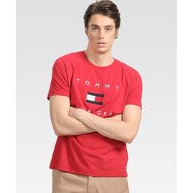 フラッグロゴ プリント Tシャツ (レッド)