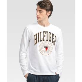 シールドロゴ ロングスリーブ Tシャツ (ホワイト)