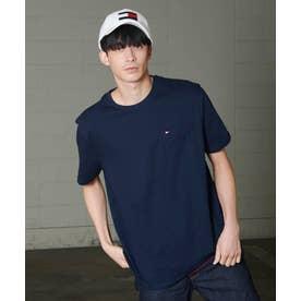 【定番Tシャツ】ワンポイント ポケット Tシャツ (ネイビー)