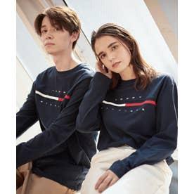 ロゴ ロング Tシャツ / TINO TEE L/S (ネイビー)