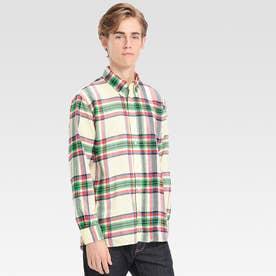 チェックシャツ (オフホワイト)