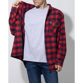 フランネルチェックシャツ (レッド)