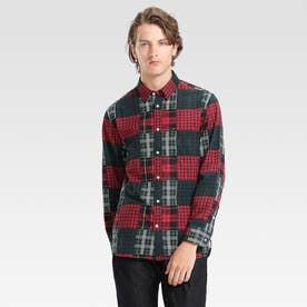 タータンチェックパッチワークシャツ (マルチ)