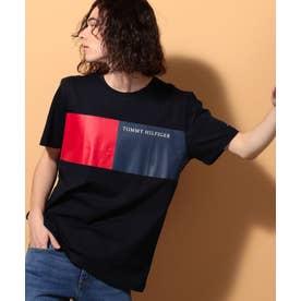 フラッグカラーブロックTシャツ (ネイビー)