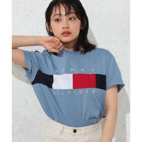 フラッグロゴTシャツ (ブルー)