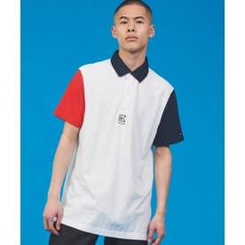 カラーブロック ポロシャツ (ホワイト)