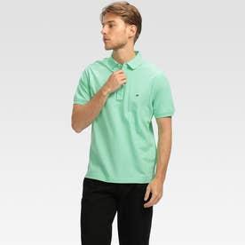 コットンベーシックポロシャツ (ライトグリーン)