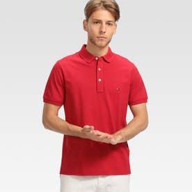 コットンベーシックポロシャツ (レッド)