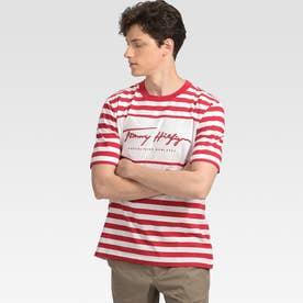 ストライプTシャツ (レッド)