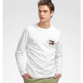 コットンロングスリーブTシャツ (ホワイト)