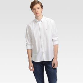 コットンリネンツイルシャツ (ホワイト)