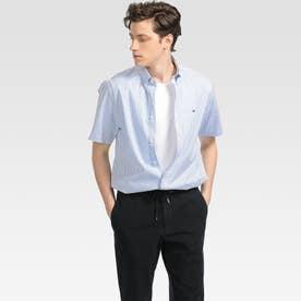 ストライプショートスリーブシャツ (ブルー)