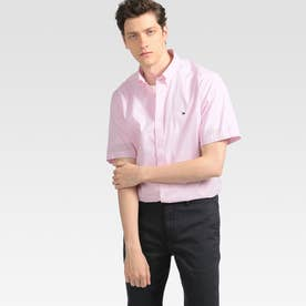 ストライプショートスリーブシャツ (ピンク)
