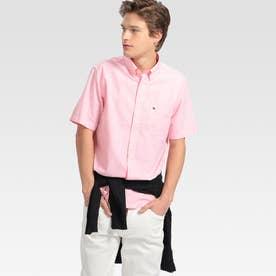 オックスフォードショートスリーブシャツ (ピンク)