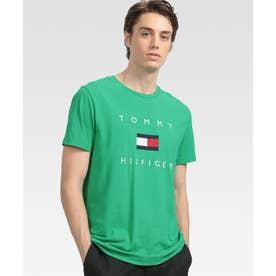 フラッグロゴ プリント Tシャツ (グリーン)