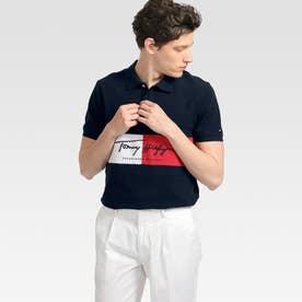 カラーブロックポロシャツ (ネイビー)