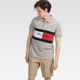 カラーブロックポロシャツ (グレー)