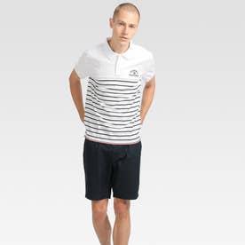ボーダーポロシャツ (ホワイト)