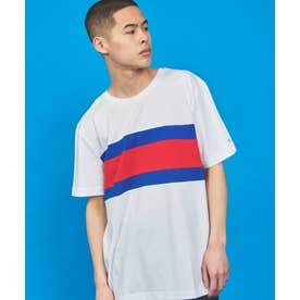 カラーブロックTシャツ (ホワイト)