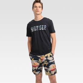フローラルロゴ Tシャツ (ネイビー)