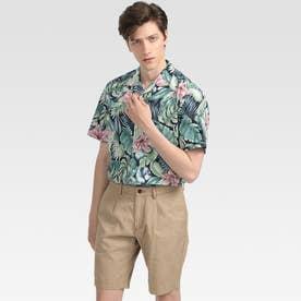 ハワイアンプリントシャツ (グリーン)