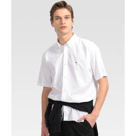 シアサッカーストライプ ショートスリーブシャツ (ホワイト)
