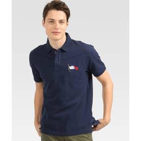 レギュラーフィットフラッグポロシャツ (ネイビー)