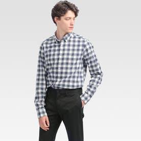 チェックシャツ (ブルー)