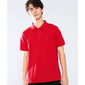 スリムフィットベーシックポロシャツ (レッド)
