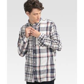 チェックシャツ (ホワイト)