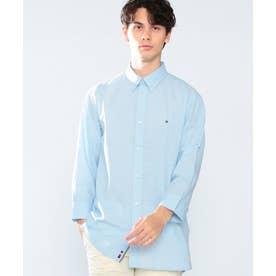 スラブドビーシャツ (ブルー)