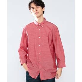スラブドビーシャツ (レッド)