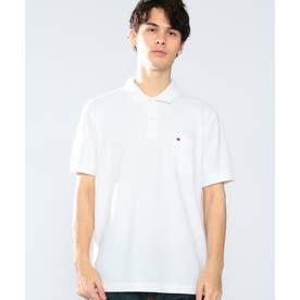 レギュラーフィットポケットポロシャツ (ホワイト)