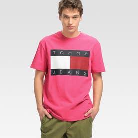 フラッグロゴTシャツ (ピンク)