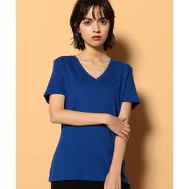ベーシックVネックTシャツ (ブルー)